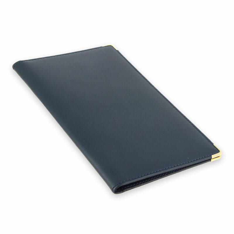 porte chequier portefeuille cuir bleu marine 2