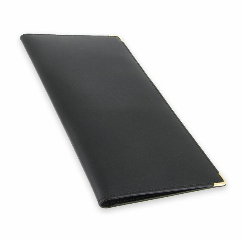 porte chequier professionnel cuir noir 2 talons 5