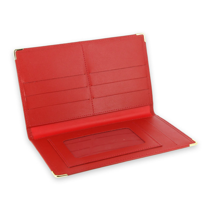 porte chequier portefeuille cuir rouge 3