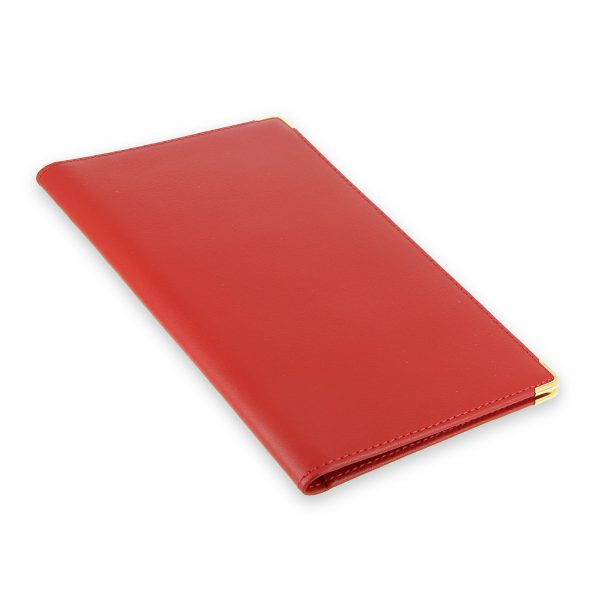 porte chequier portefeuille cuir rouge 2