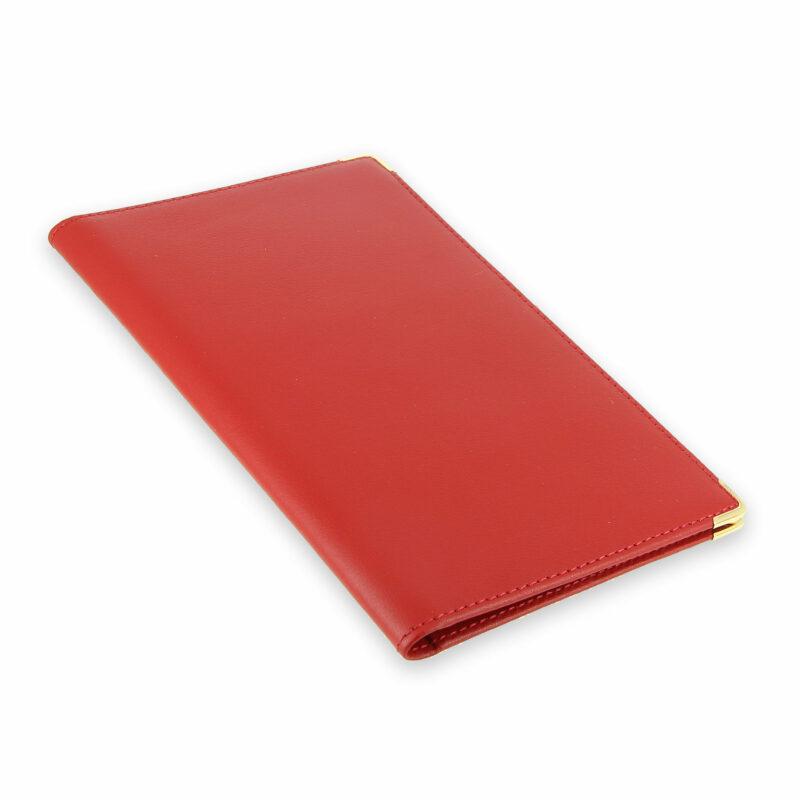 porte chequier portefeuille cuir rouge 2