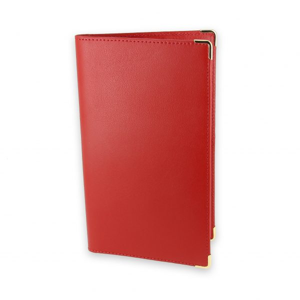 porte chequier portefeuille cuir rouge 1