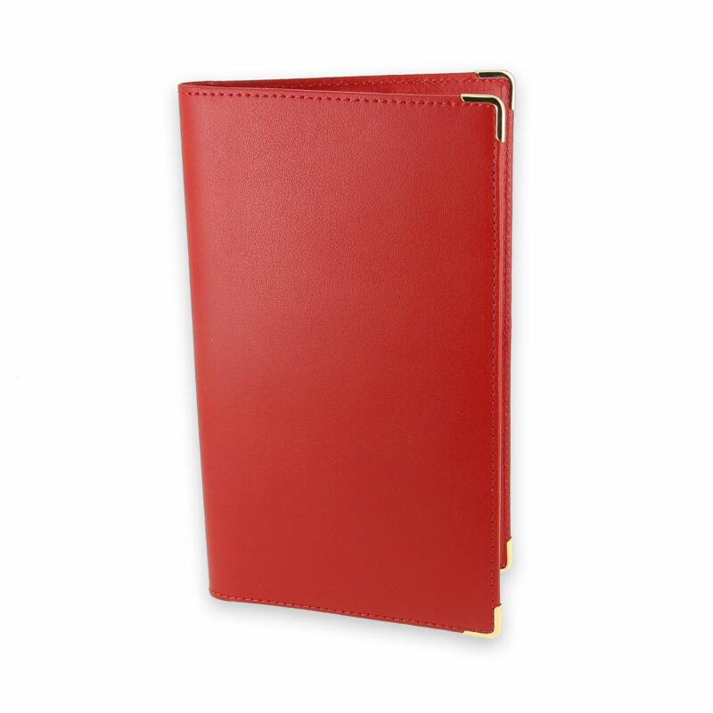 porte chequier portefeuille cuir rouge 1