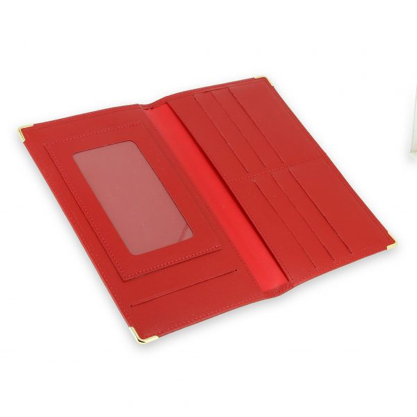 porte chequier portefeuille cuir rouge 4