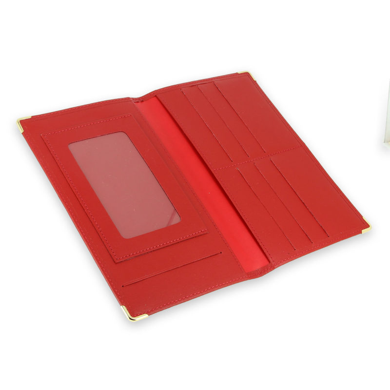 porte chequier portefeuille cuir rouge 4