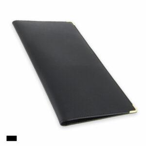 porte chequier professionnel cuir noir