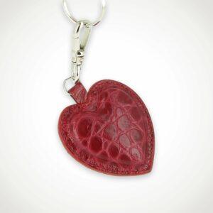 porte-clefs-coeur-cuir-croco1-rouge-rose
