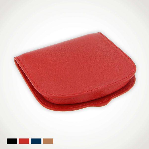 Porte monnaie cuir sabot de cheval rouge
