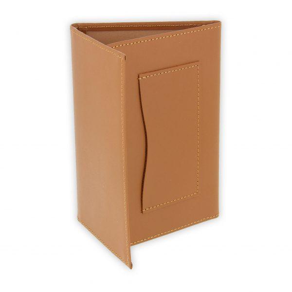 porte papiers vehicule cuir beige gold 2
