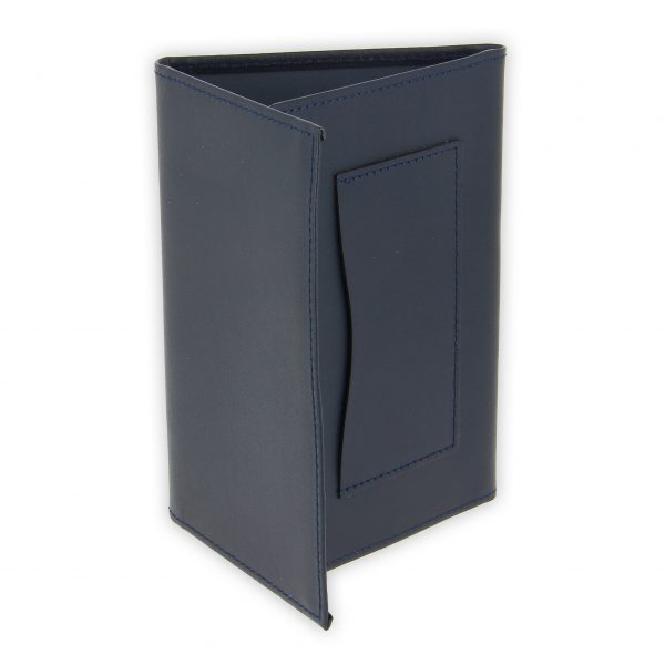 porte papiers vehicule cuir bleu marine 2