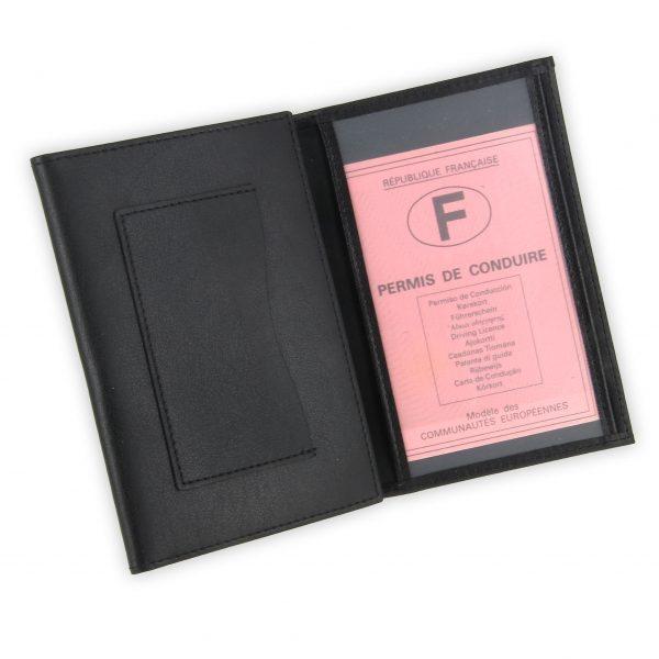 porte papiers vehicule cuir noir 3