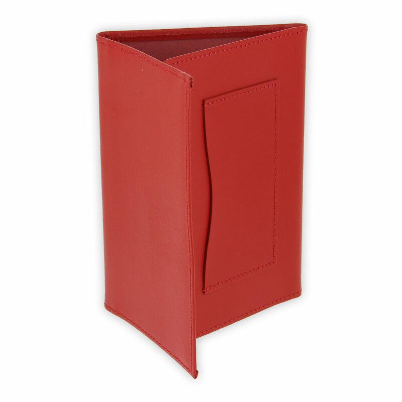 porte papiers vehicule cuir rouge 2