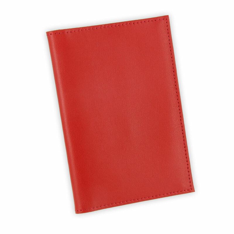 porte papiers vehicule cuir rouge 1