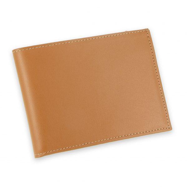 portefeuille cuir beige gold avec 6 cartes 2