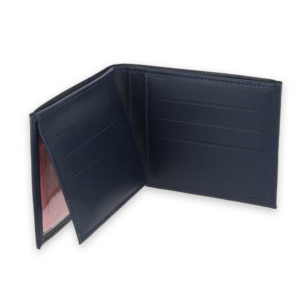 portefeuille cuir bleu marine avec 6 cartes 4