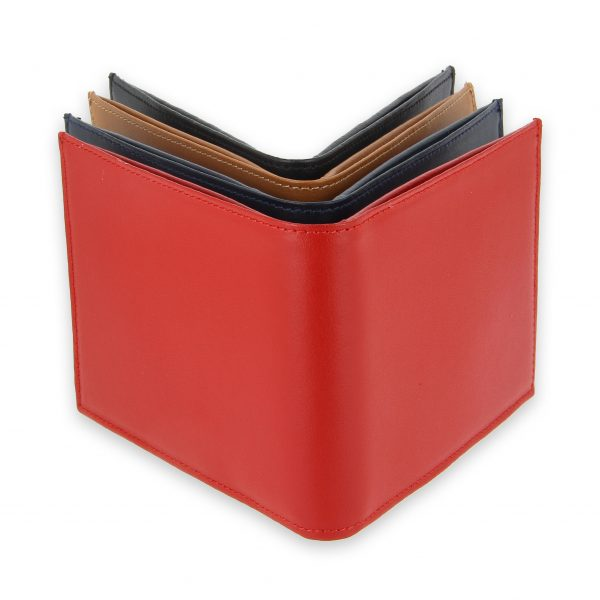 portefeuille cuir 4couleurs avec 6 cartes 1