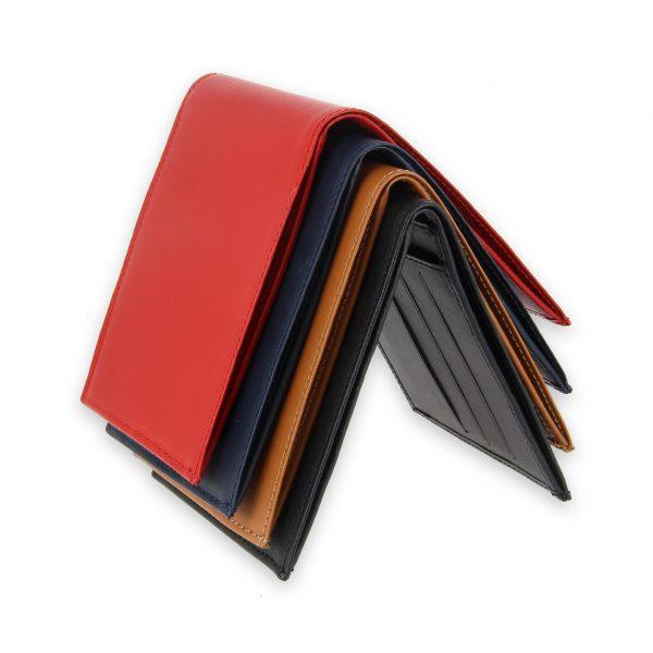 portefeuille cuir 4couleurs avec 6 cartes 2