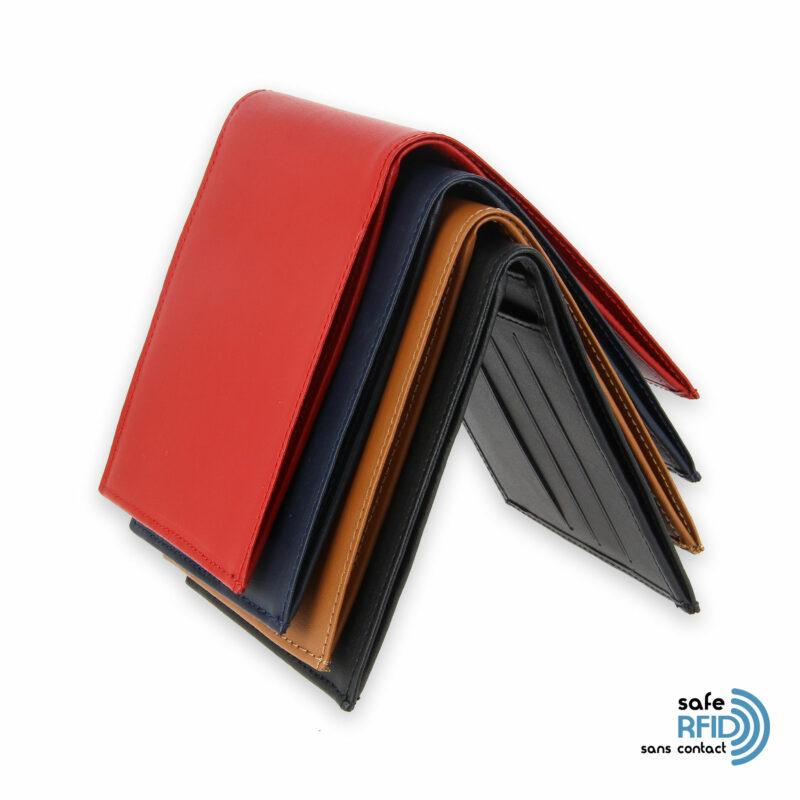portefeuille cuir avec 6 cartes protection carte sans contact rfid
