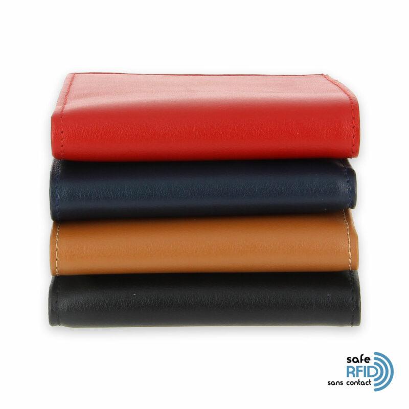 portefeuille cuir couleurs avec 6 cartes 3 protection carte sans contact rfid