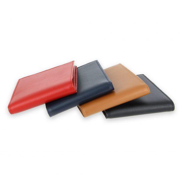portefeuille cuir 4couleurs avec 6 cartes 4