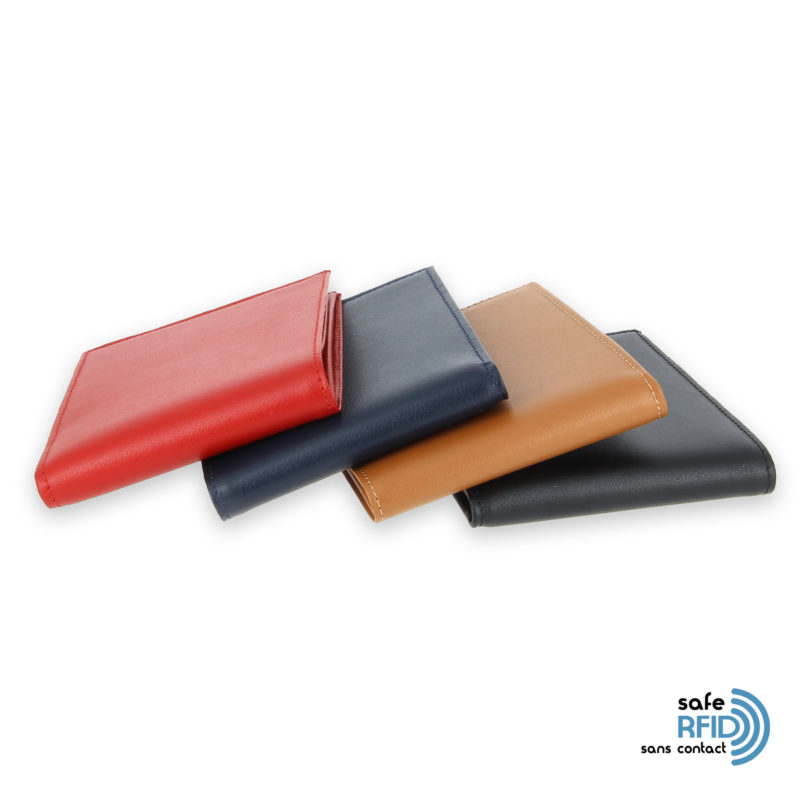 portefeuille cuir couleurs avec 6 cartes 4 protection carte sans contact rfid