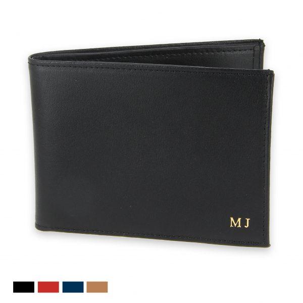 portefeuille cuir 6 cartes cuir noir init