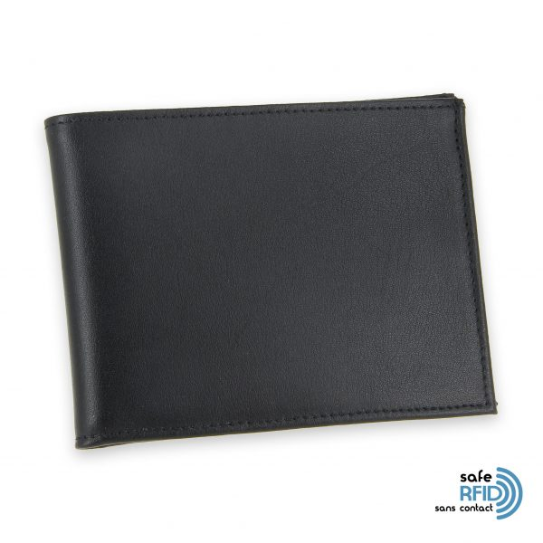 portefeuille cuir noir avec 6 cartes 2 protection carte sans contact rfid