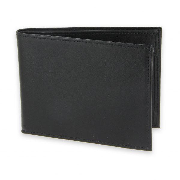 portefeuille cuir noir avec 6 cartes 1