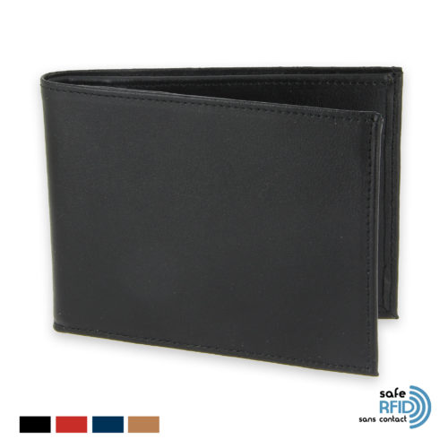 portefeuille protection stop rfid anti nfc 6 cartes noir init