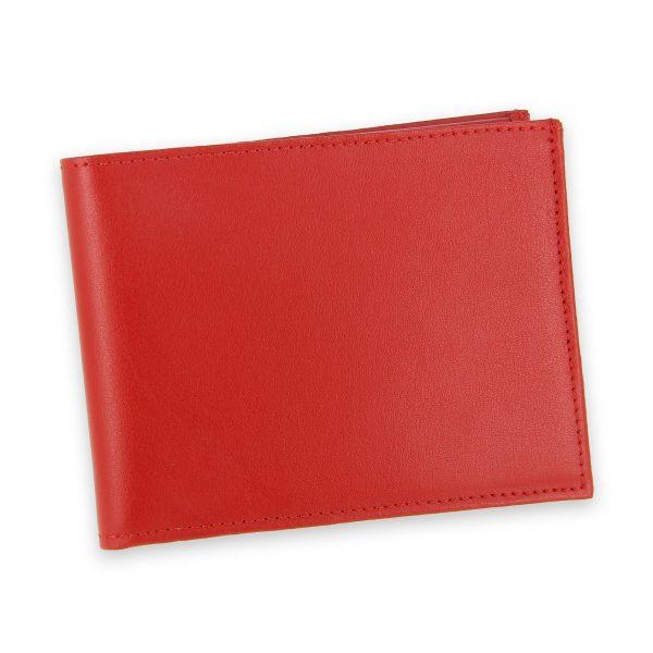 portefeuille cuir rouge avec 6 cartes 2
