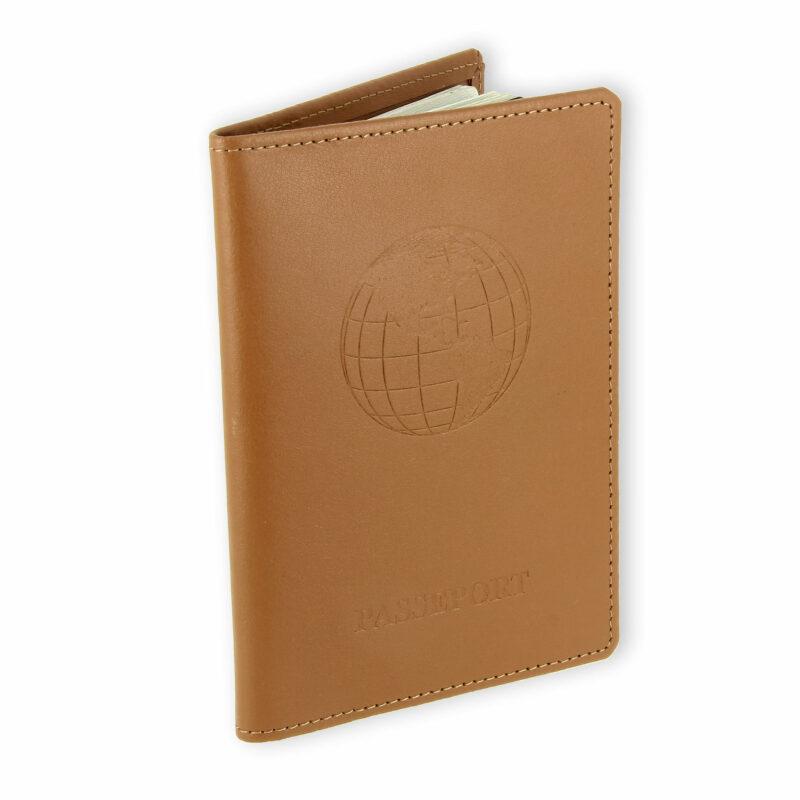 porte passeport cuir bleu beige 2