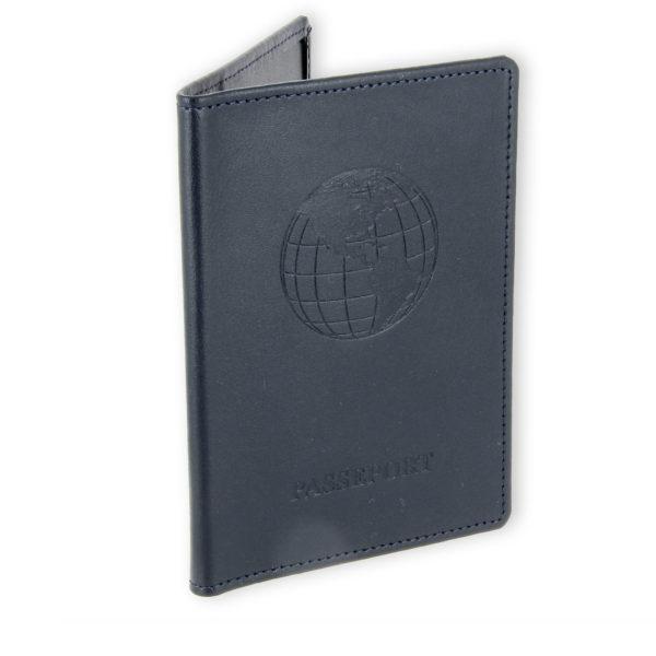 porte passeport cuir bleu marine 2