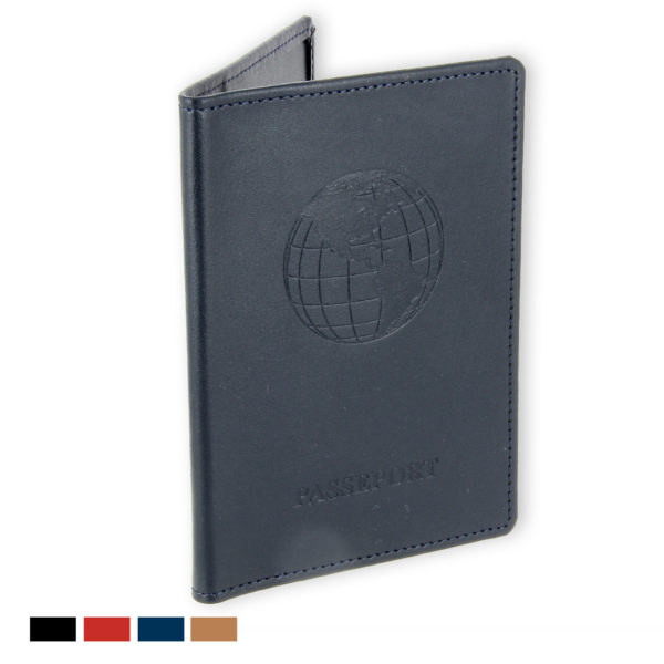 porte passeport cuir bleu marine