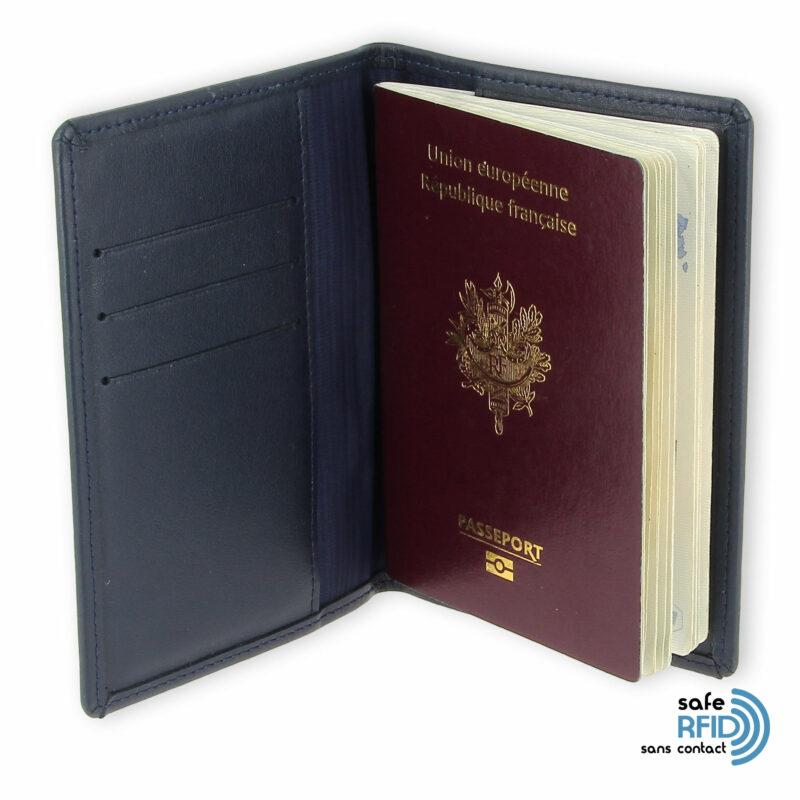 porte passeport cuir bleu bleu 2 2 rfid
