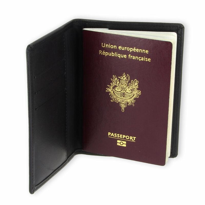 porte passeport cuir bleu noir 3 2