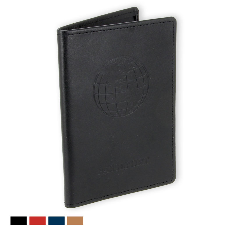 porte passeport cuir noir