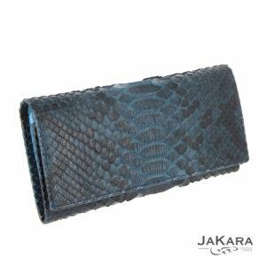 pochette python femme bleu cuir 4