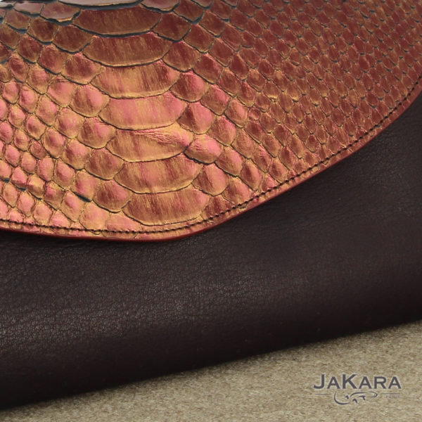 pochette python femme cuivre cuir 11