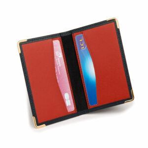 Porte-cartes marine et rouge 1