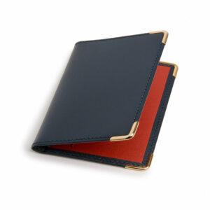 Porte cartes marine et rouge