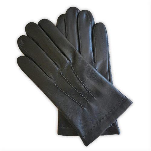 Gants cuir homme Henri Noir