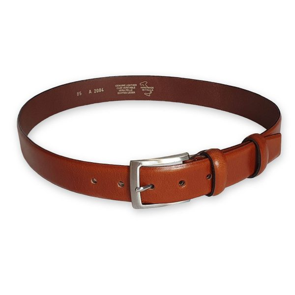 ceinture cuir homme marron bergame 1