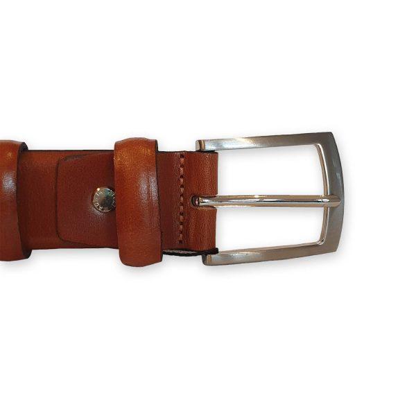 ceinture cuir homme marron bergame 3