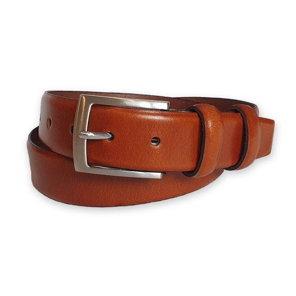 ceinture cuir homme marron bergame 4