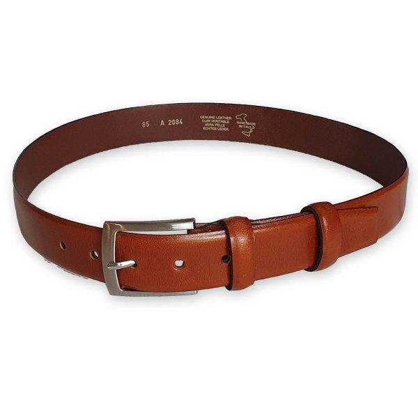 ceinture cuir homme marron bergame 5