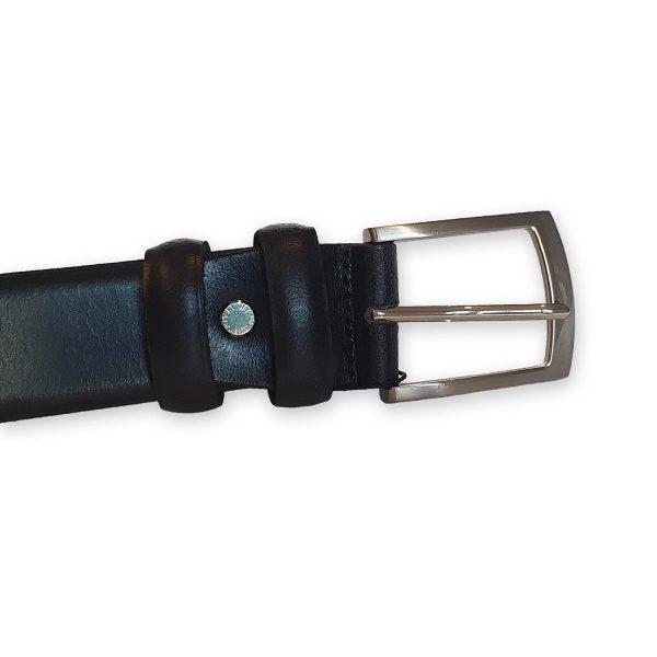 ceinture cuir homme noire bergame 1