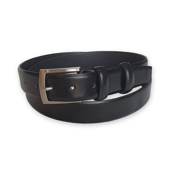 ceinture cuir homme noire bergame 3
