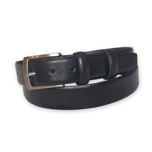 ceinture cuir homme noire bergame 4