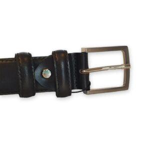 ceinture homme cuir noire Sienne 1